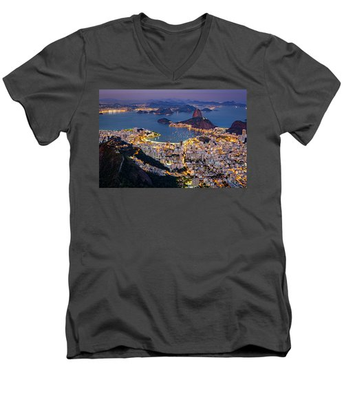 Aerial Rio Men's V-Neck T-Shirt
