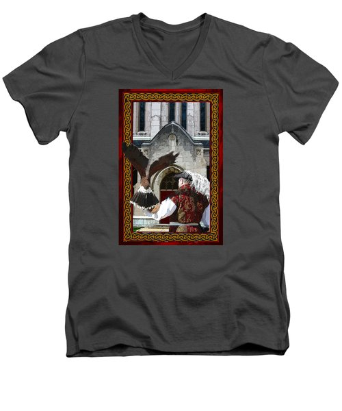 The Falconer Men's V-Neck T-Shirt
