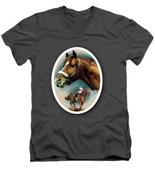 Affirmed With Name Decor Men's V-Neck T-Shirt