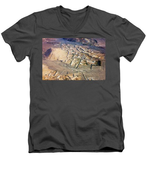 Afghan River Village Men's V-Neck T-Shirt