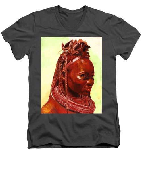 African Beauty Men's V-Neck T-Shirt