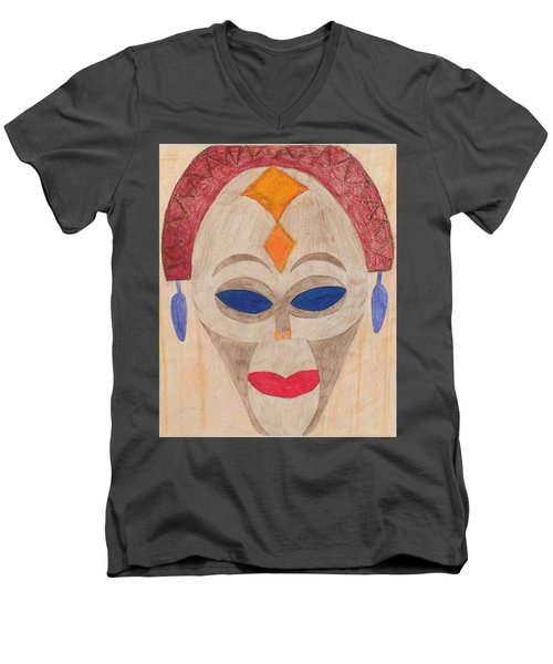 African Mask Men's V-Neck T-Shirt