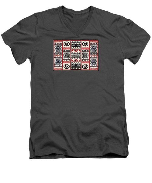 African Tribal Ritual Design Men's V-Neck T-Shirt