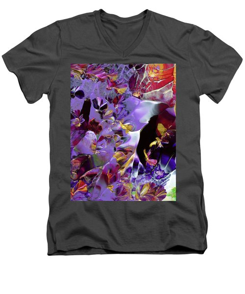 African Violet Awake #2 Men's V-Neck T-Shirt