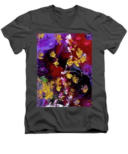 African Violet Awake #3 Men's V-Neck T-Shirt