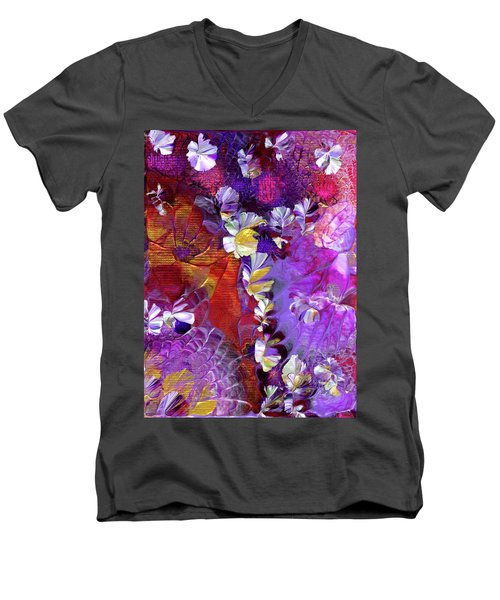 African Violet Awake #5 Men's V-Neck T-Shirt