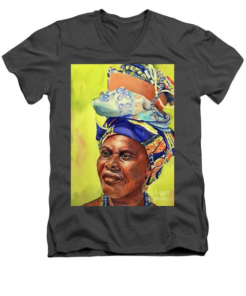African Woman Men's V-Neck T-Shirt