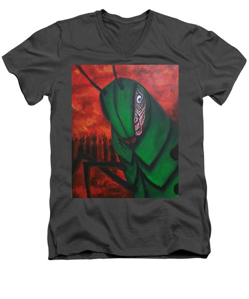 After Bob Died He Realized He Had Made Poor Life Choices. Men's V-Neck T-Shirt by Chris Benice