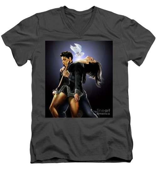 After Doves Cry They Fly Prince Men's V-Neck T-Shirt