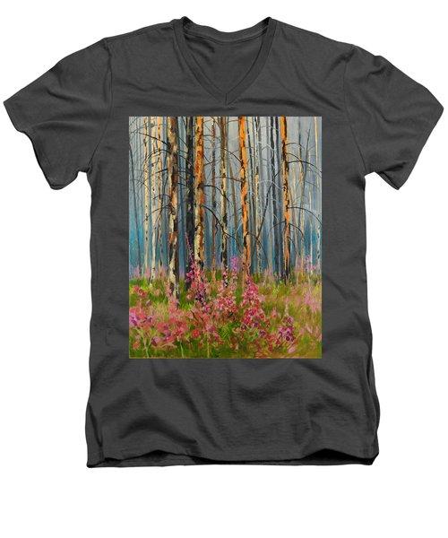 After Forest Fire Men's V-Neck T-Shirt
