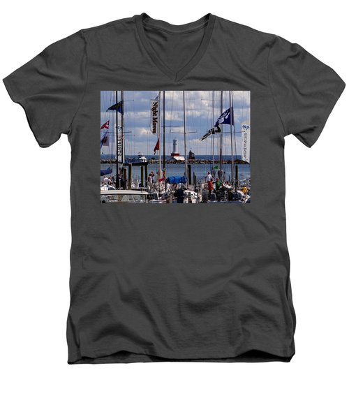 After The Race Men's V-Neck T-Shirt by Keith Stokes
