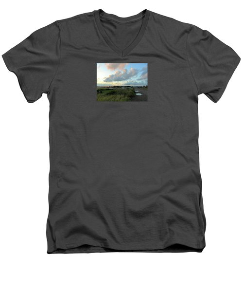 Men's V-Neck T-Shirt featuring the photograph After The Rain by Anne Kotan