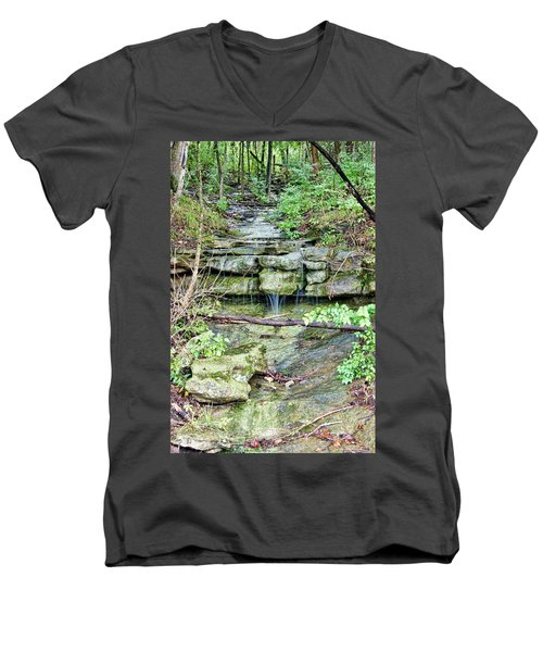 Men's V-Neck T-Shirt featuring the photograph After The Rain by Cricket Hackmann