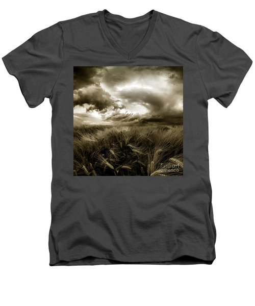 Men's V-Neck T-Shirt featuring the photograph After The Storm  by Franziskus Pfleghart