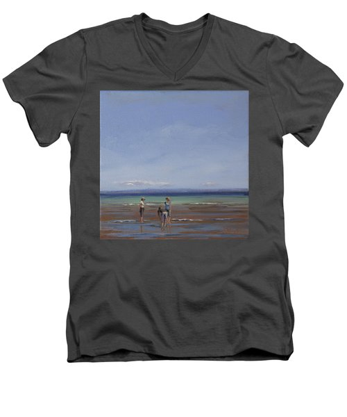 After The Walk II Men's V-Neck T-Shirt by Trina Teele