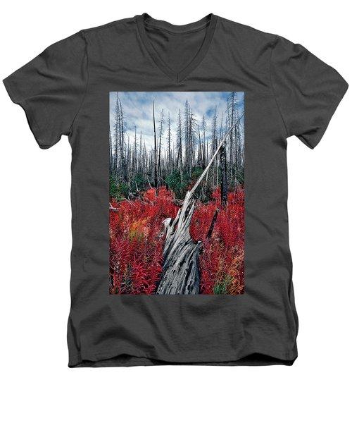 Afterburn Men's V-Neck T-Shirt