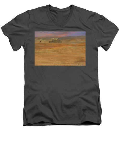 Afterglow On The Palouse Men's V-Neck T-Shirt
