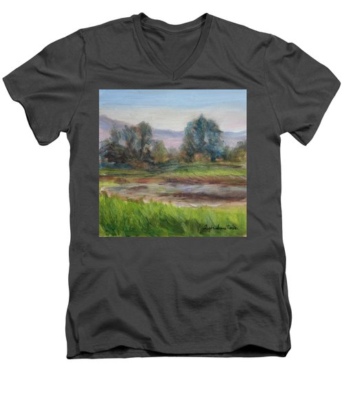 Afternoon At Sauvie Island Wildlife Viewpoint Men's V-Neck T-Shirt