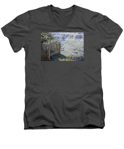 Afternoon At The Canyon Men's V-Neck T-Shirt