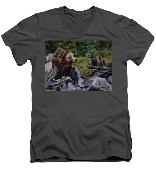 Afternoon Neigh-bear Men's V-Neck T-Shirt