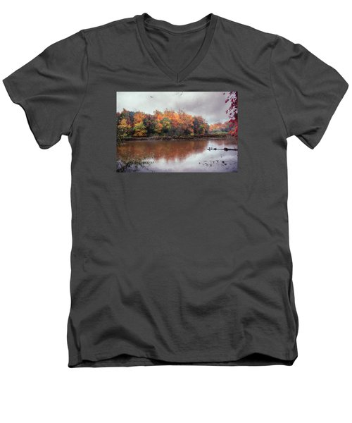 Men's V-Neck T-Shirt featuring the photograph Afternoon Rain by John Rivera