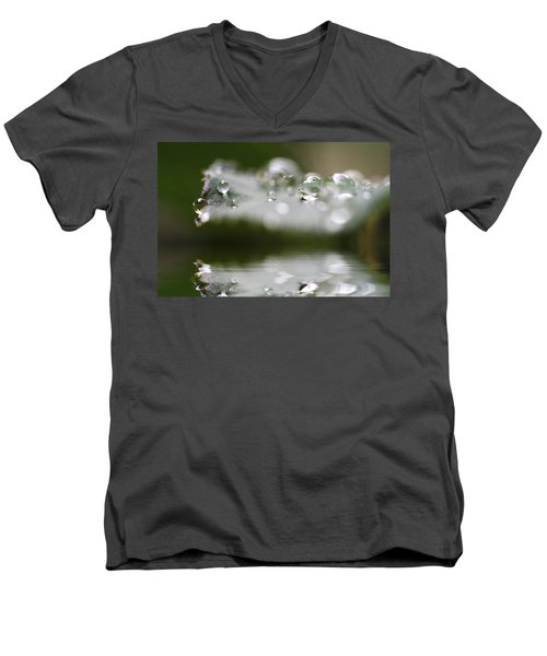 Afternoon Raindrops Men's V-Neck T-Shirt by Kym Clarke