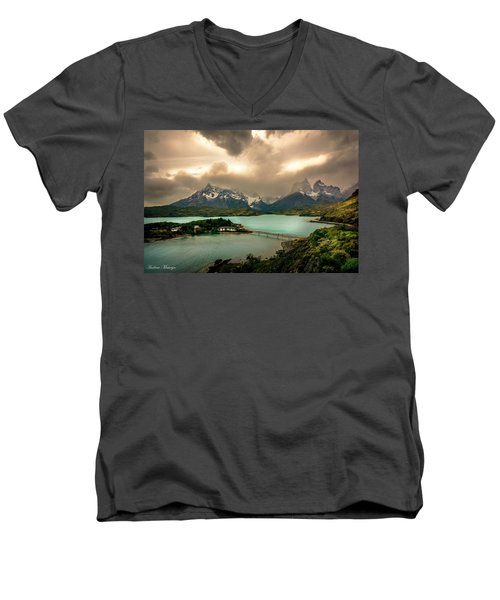 Afternoon Storm Men's V-Neck T-Shirt by Andrew Matwijec