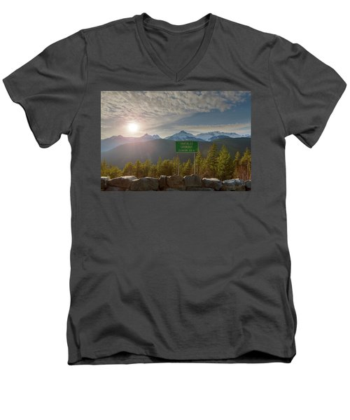 Afternoon Sun Over Tantalus Range From Lookout Men's V-Neck T-Shirt