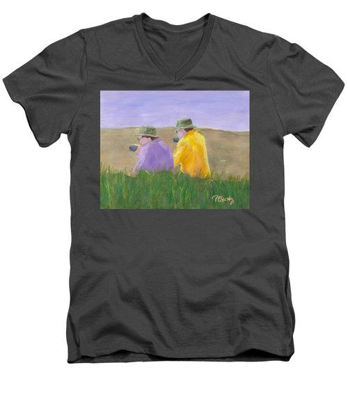 Afternoon Tea Men's V-Neck T-Shirt by Patricia Cleasby