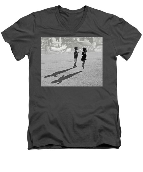 Against Gravity Men's V-Neck T-Shirt by Christopher McKenzie