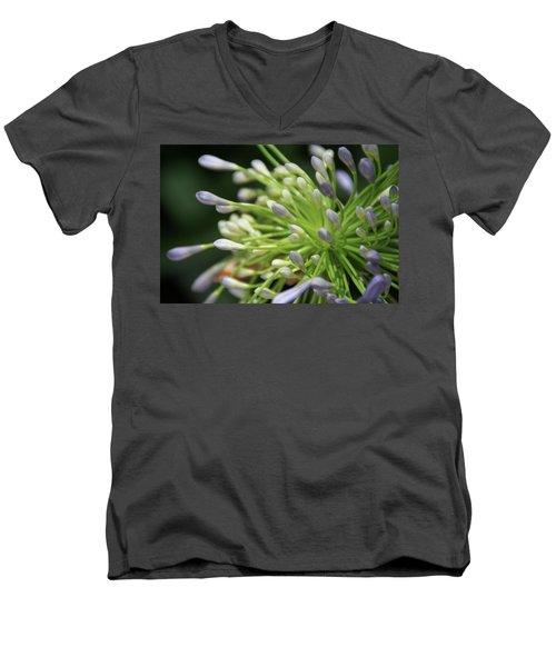 Agapanthus, The Spider Flower Men's V-Neck T-Shirt by Yoel Koskas