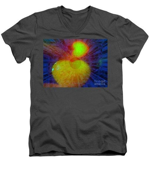 Agape Men's V-Neck T-Shirt by Fania Simon