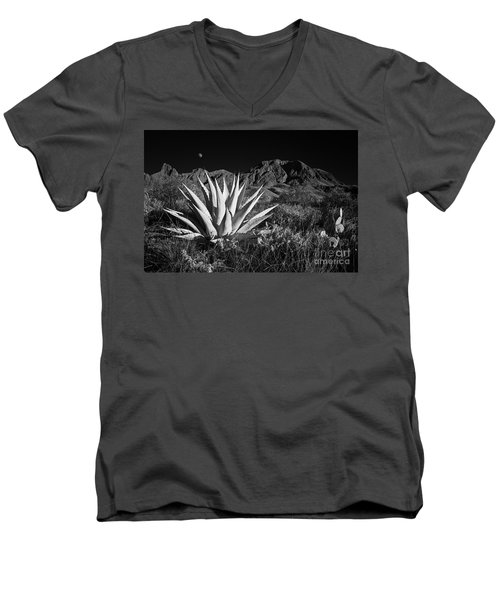 Agave And Moonrise Men's V-Neck T-Shirt