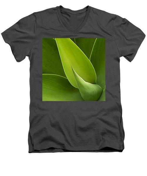 Agave Men's V-Neck T-Shirt by Heiko Koehrer-Wagner