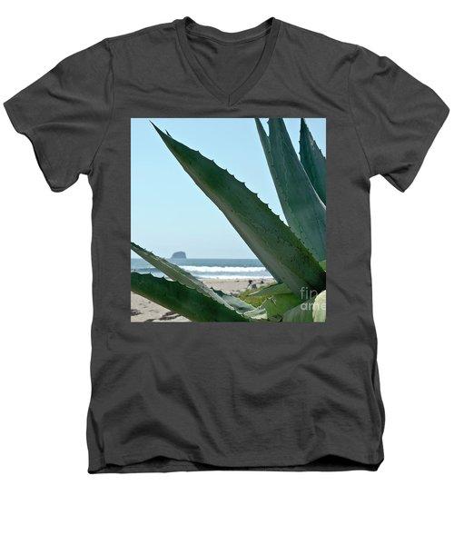 Agave Ocean Sky Men's V-Neck T-Shirt by Yurix Sardinelly