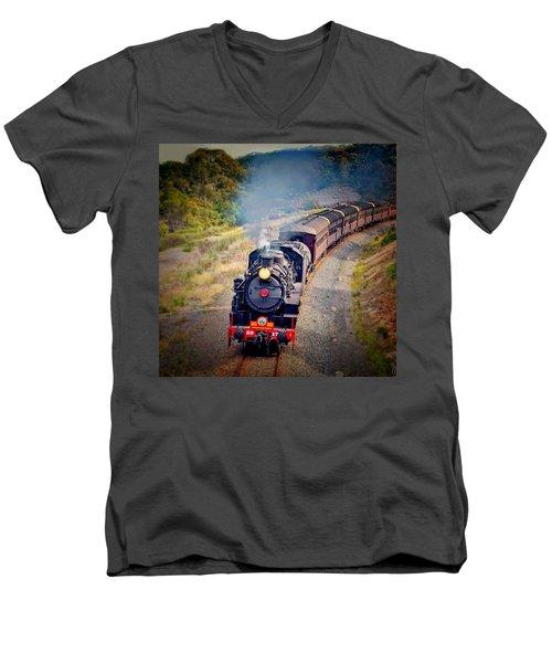 Age Of Steam Men's V-Neck T-Shirt