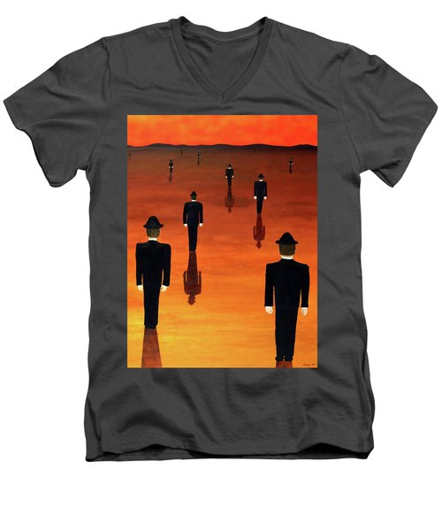 Agents Orange Men's V-Neck T-Shirt