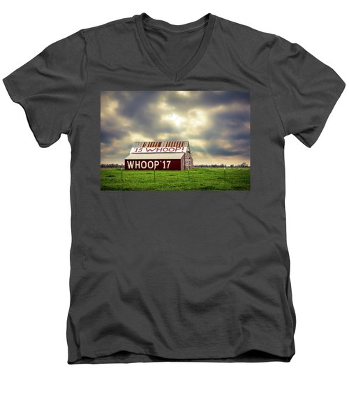 Men's V-Neck T-Shirt featuring the photograph Aggie Barn by David Morefield