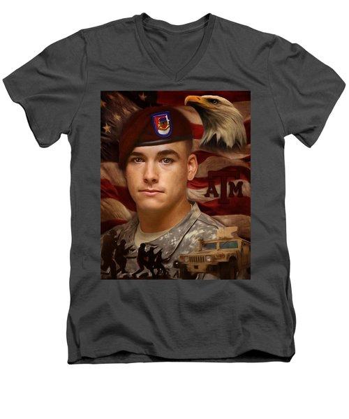 Aggie Hero For Sure Men's V-Neck T-Shirt