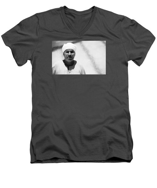 Men's V-Neck T-Shirt featuring the photograph Ah It's You by Jez C Self