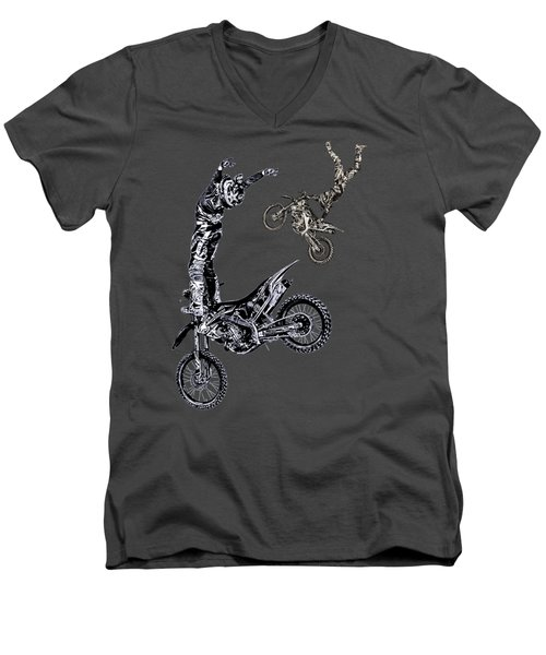 Air Riders Men's V-Neck T-Shirt by Caitlyn Grasso