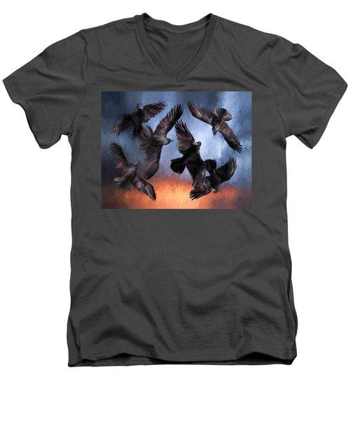 Airborne Unkindness Men's V-Neck T-Shirt