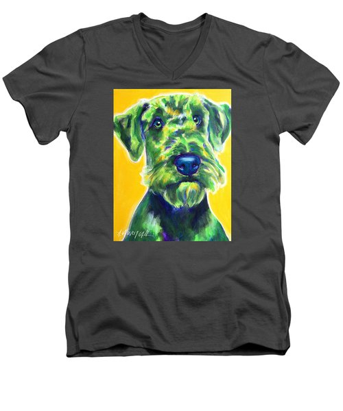 Airedale Terrier - Apple Green Men's V-Neck T-Shirt