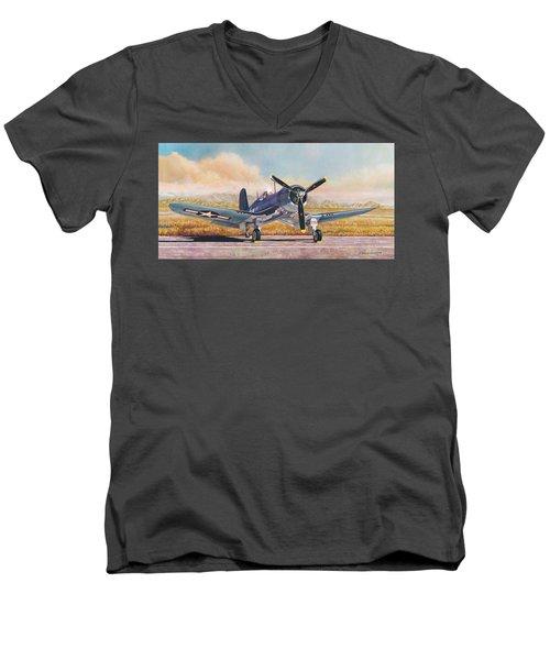 Airshow Corsair Men's V-Neck T-Shirt