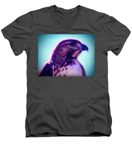 Ak-chin Red-tailed Hawk Portrait Men's V-Neck T-Shirt