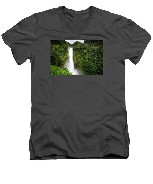 Men's V-Neck T-Shirt featuring the photograph Akaka Falls by Ryan Manuel