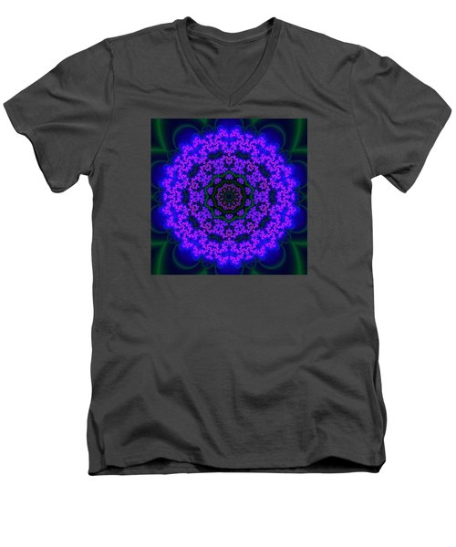 Men's V-Neck T-Shirt featuring the digital art Akbal 9 .4 by Robert Thalmeier