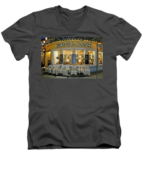 Al Fresco Dining Bavarian Style Men's V-Neck T-Shirt