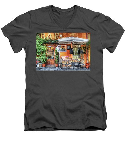 Men's V-Neck T-Shirt featuring the photograph Al Fresco Dining by Bellesouth Studio
