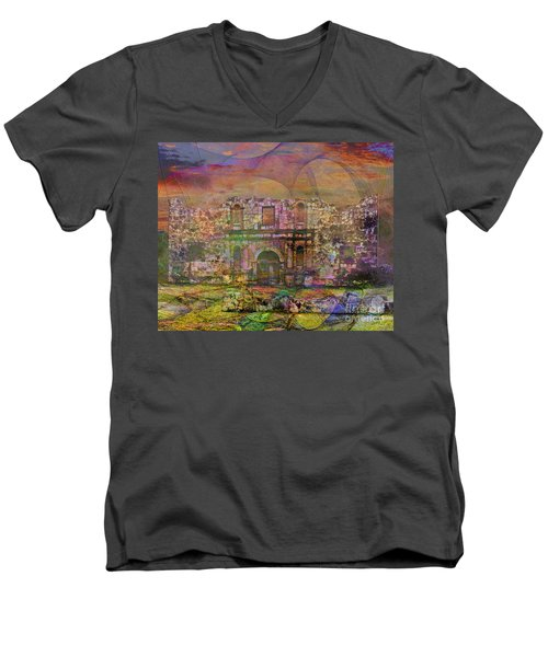 Alamo - After The Fall Men's V-Neck T-Shirt by John Robert Beck